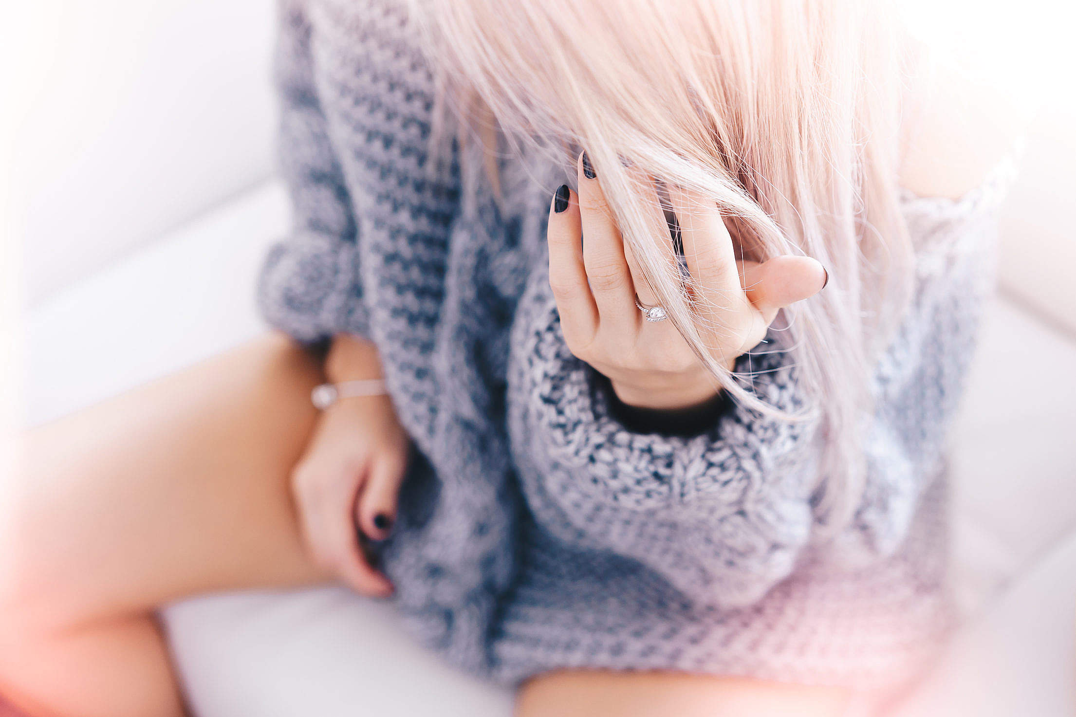 Download Blonde Woman with a Ring Bright Moody Free Stock Photo