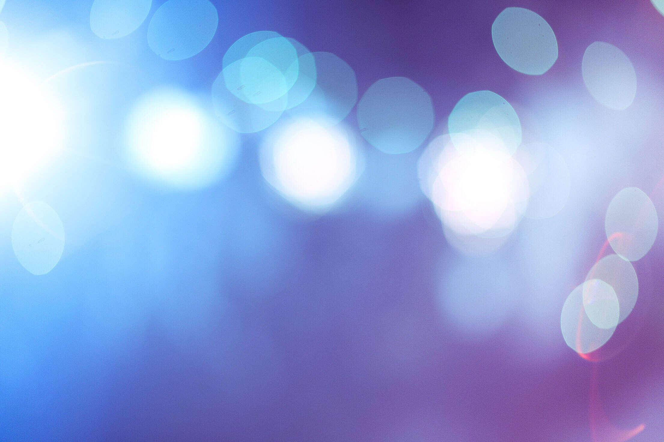 Blue Abstract Bokeh Lights Free Stock Photo