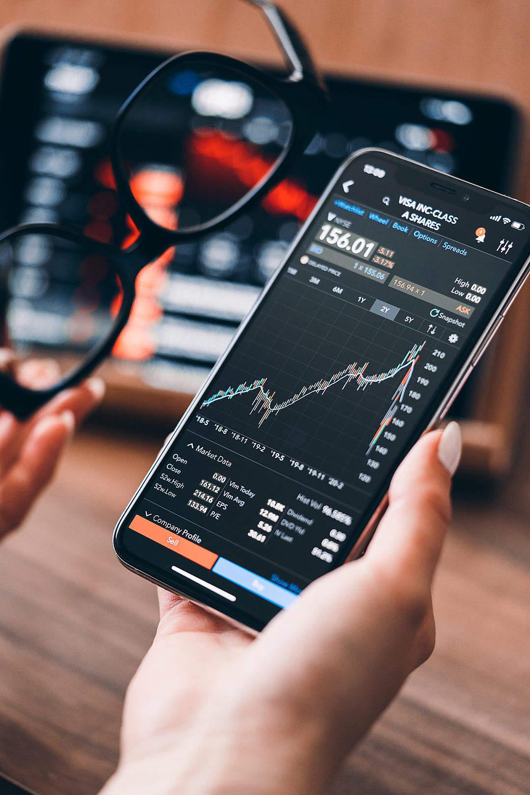 Download Blue Chip Stocks VISA Inc. Market Data FREE Stock Photo