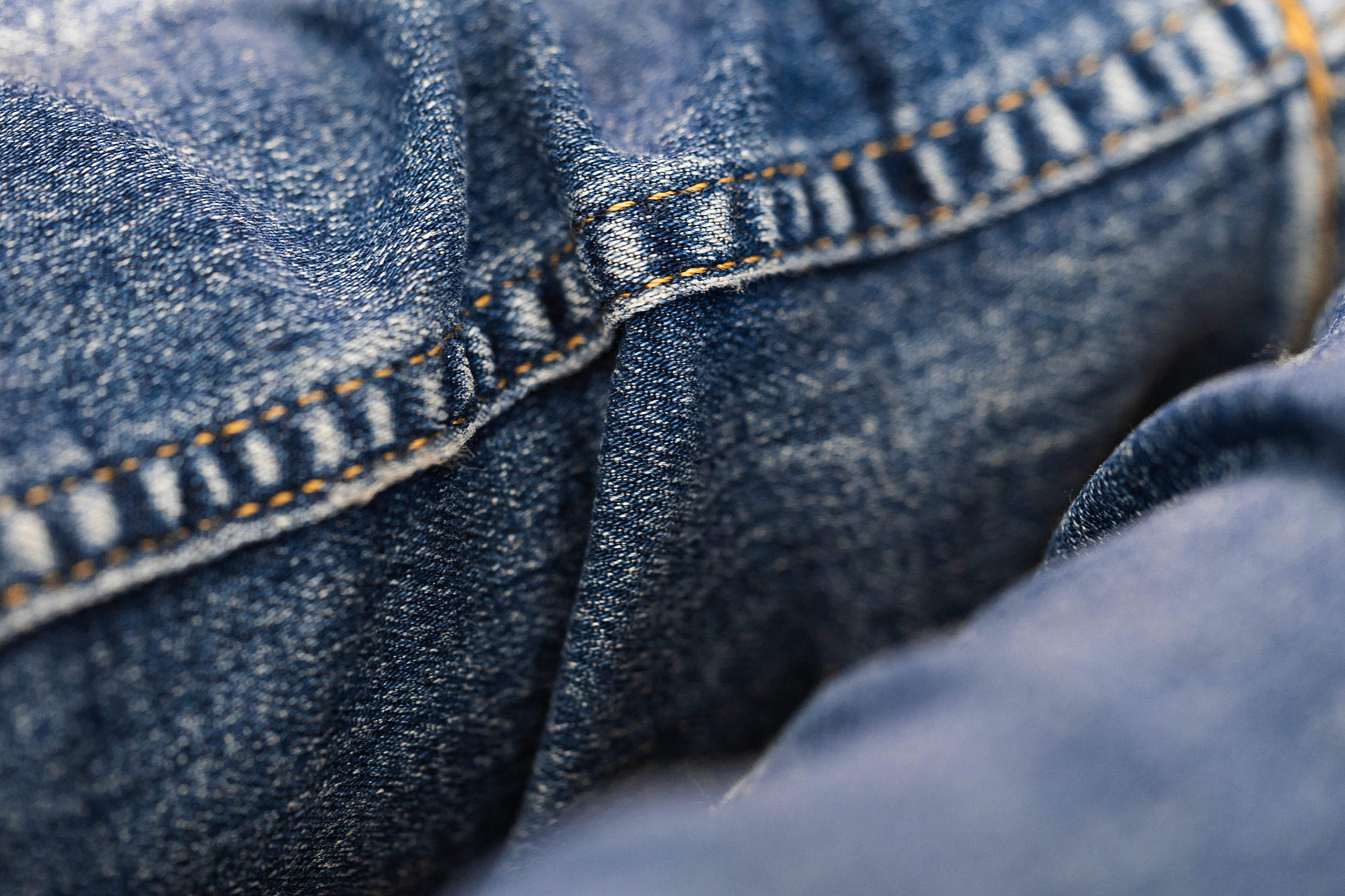 Blue Denim Jeans Texture Free Stock Photo