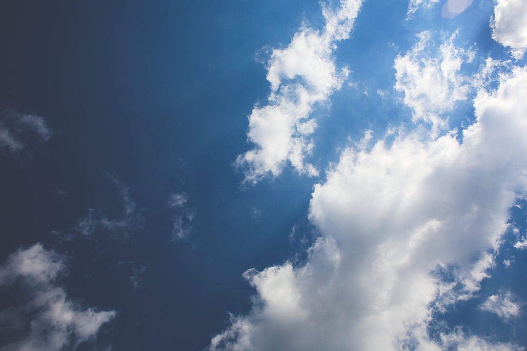 Download Blue Sky / White Clouds FREE Stock Photo