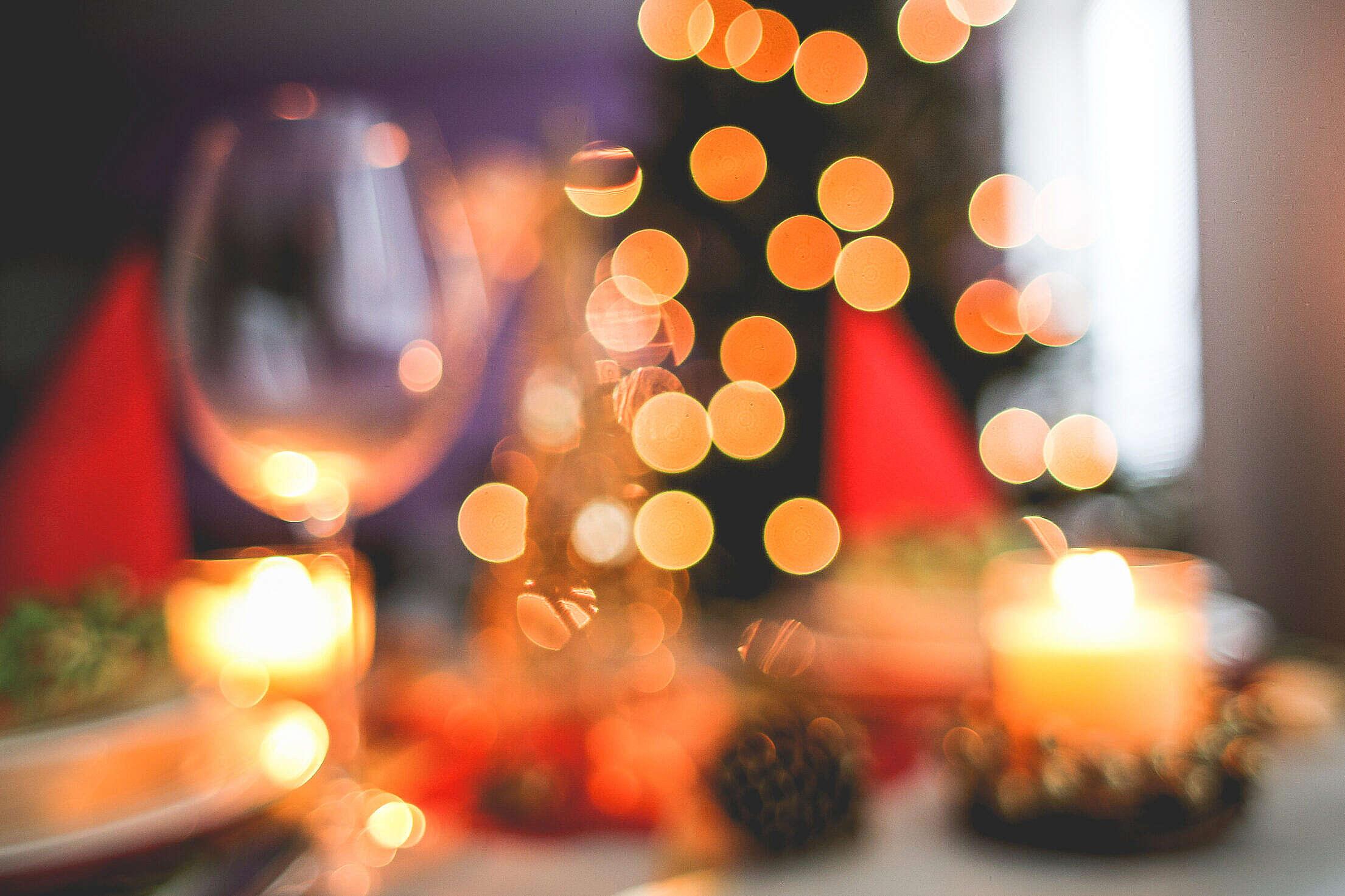 Blurred Christmas Tree Background Free Stock Photo