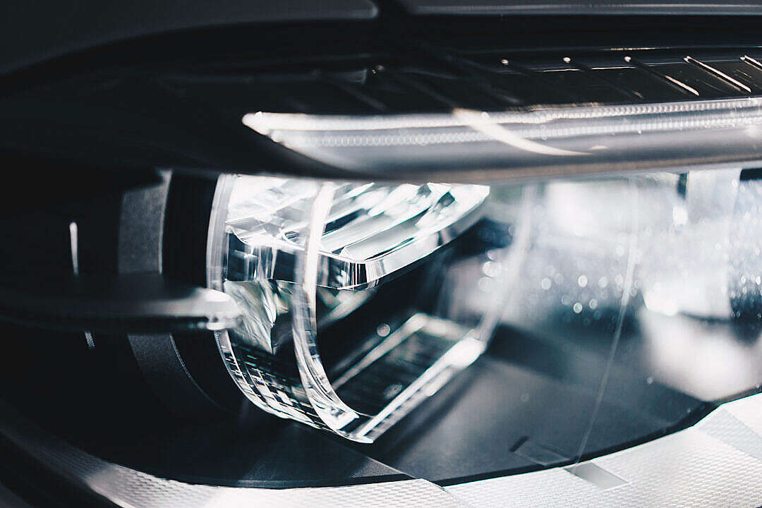 Download BMW Adaptive LED Lights Close-Up FREE Stock Photo