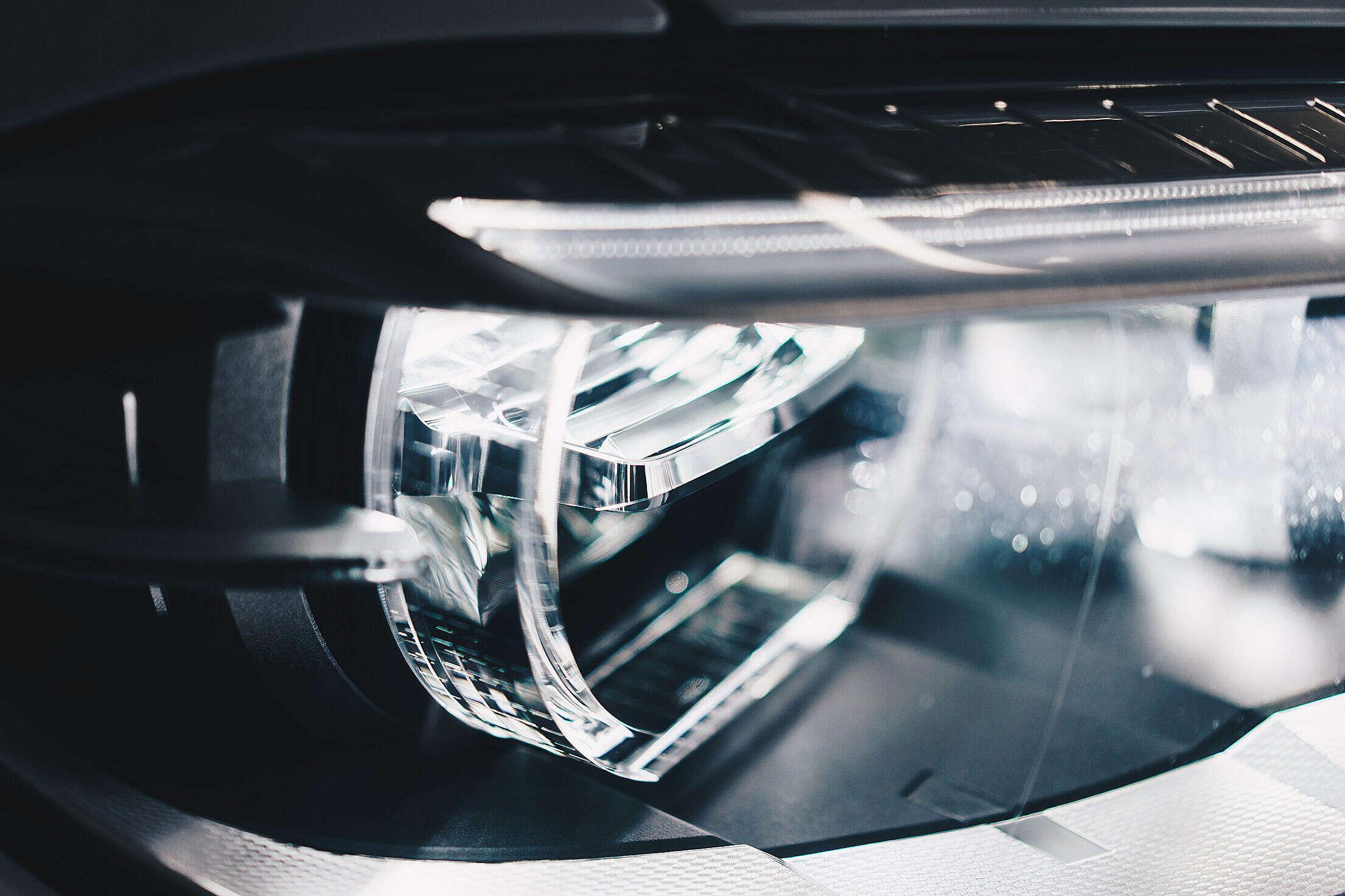 BMW Adaptive LED Lights Close-Up Free Stock Photo