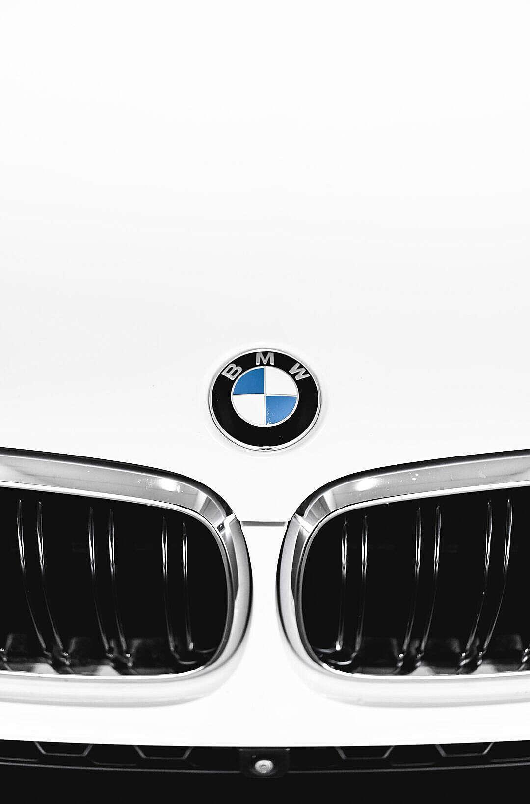 Download BMW Car Bonnet Badge FREE Stock Photo