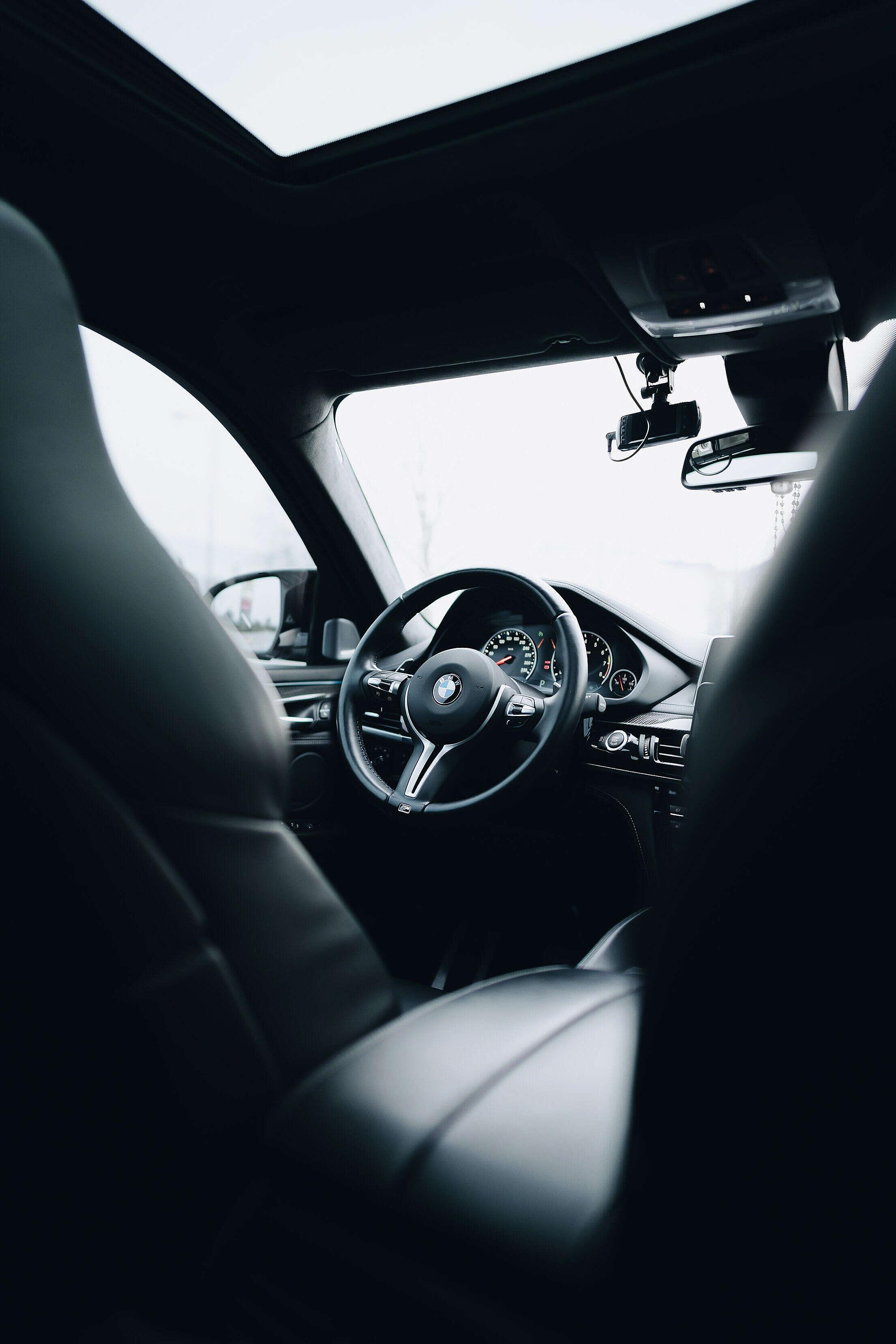 BMW Cockpit Interior Free Stock Photo