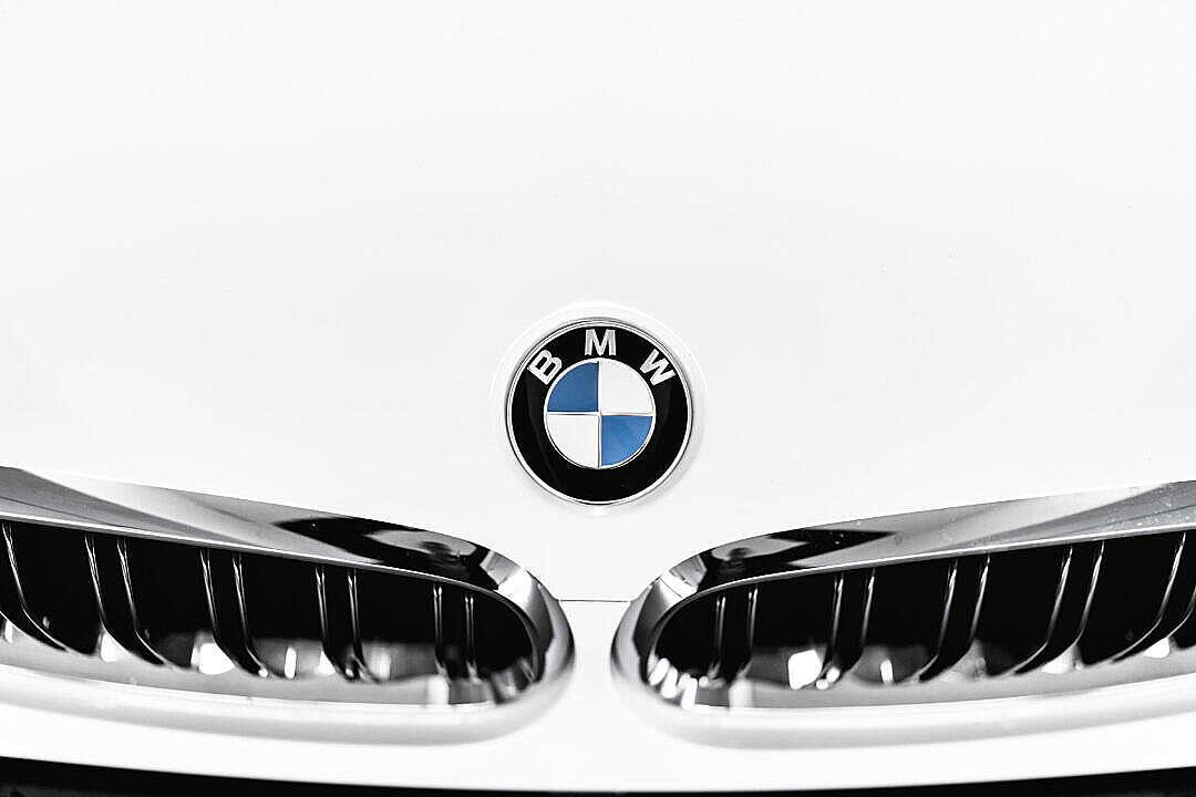 Download BMW Logo Bonnet Badge Emblem FREE Stock Photo