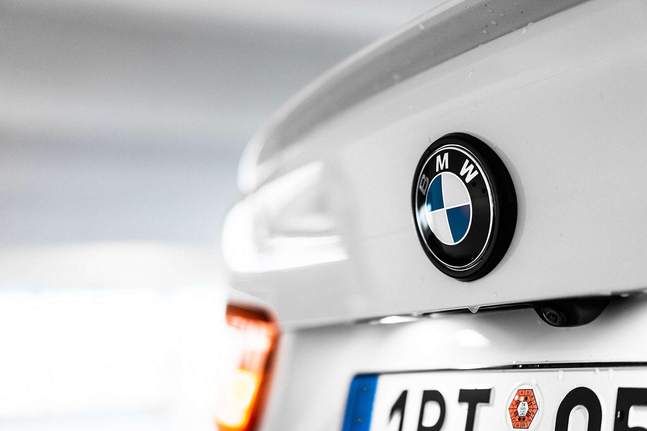 BMW Logo Emblem on Trunk Free Stock Photo