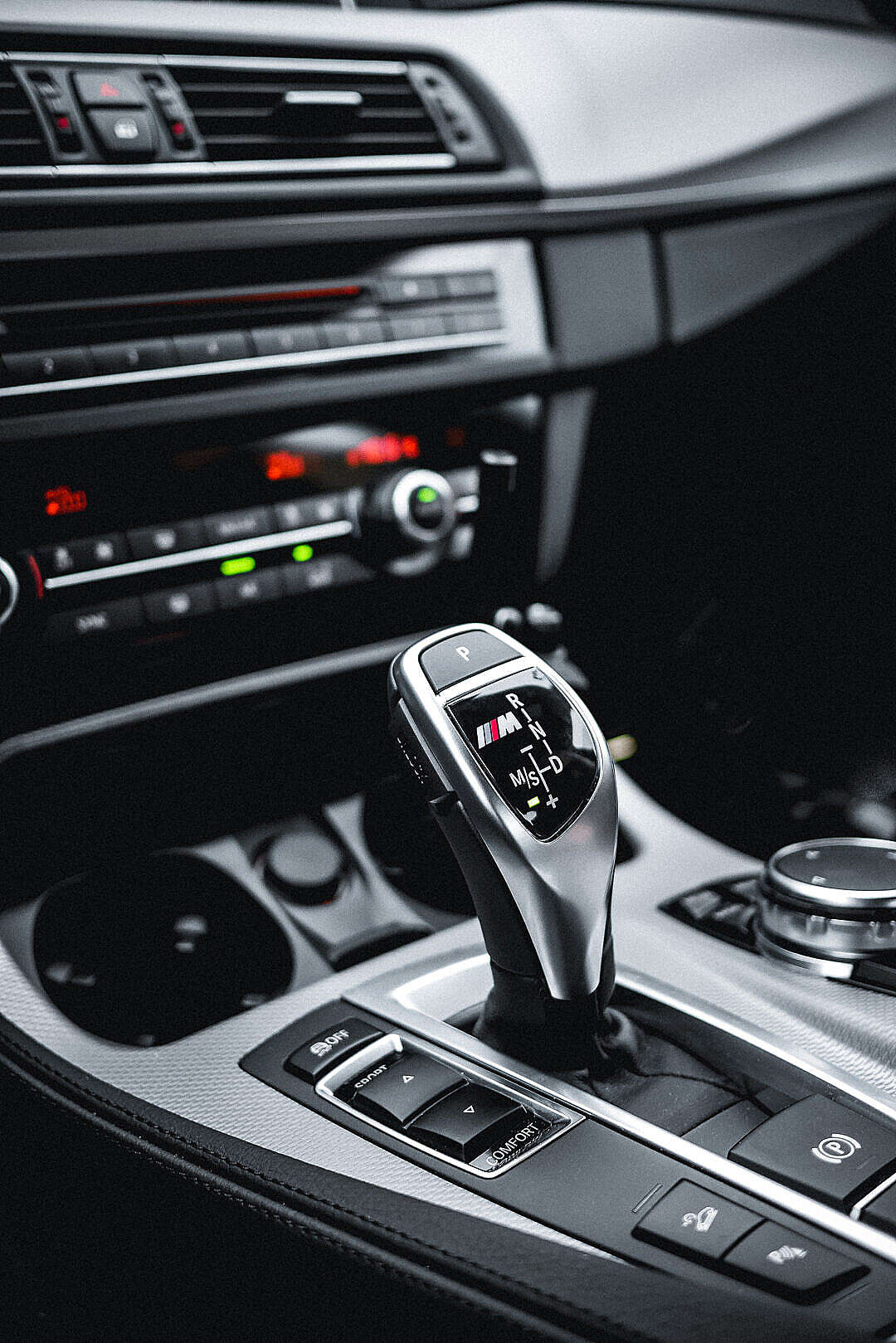 Download BMW M Diesel Automatic Gear Selector FREE Stock Photo