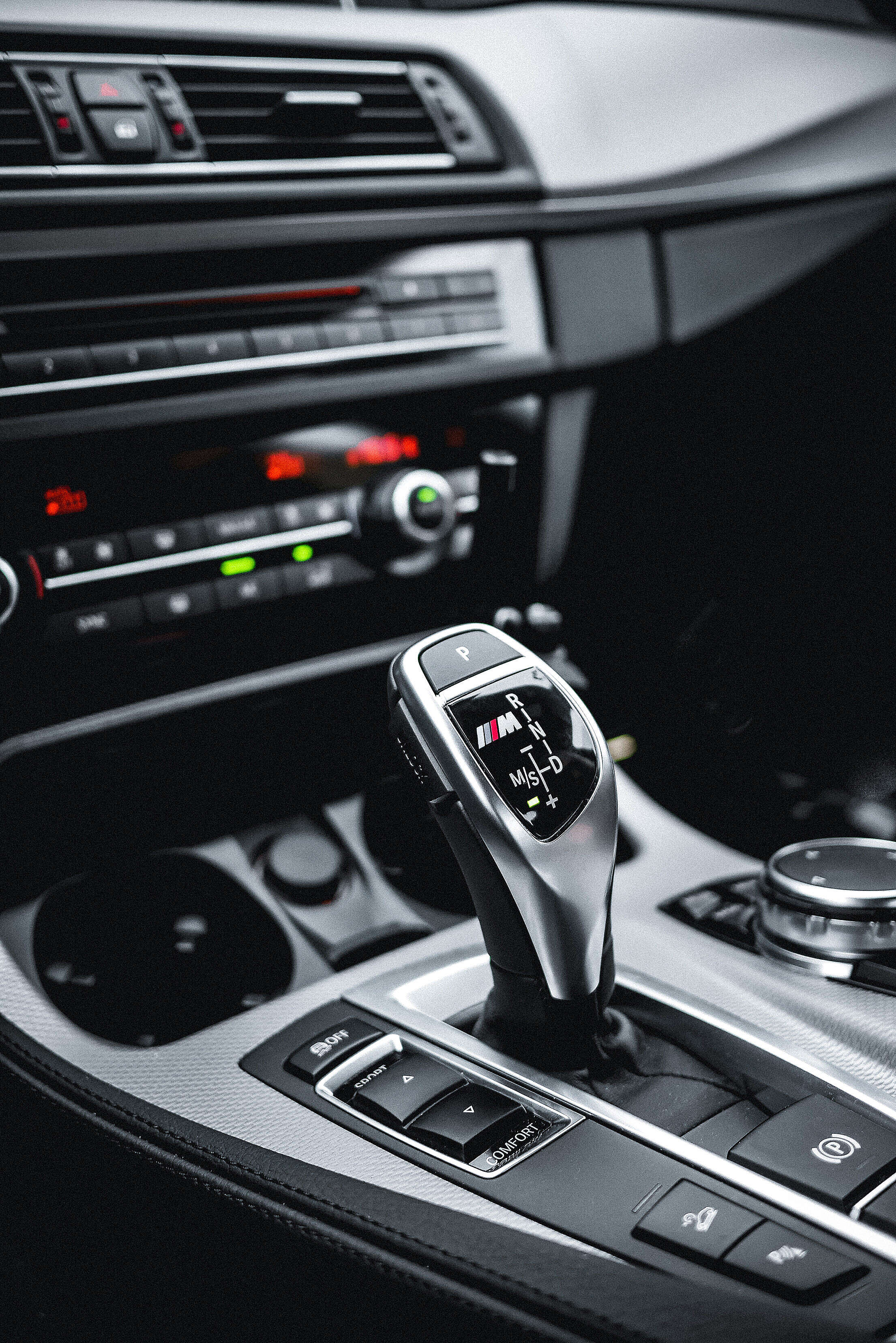 BMW M Diesel Automatic Gear Selector Free Stock Photo