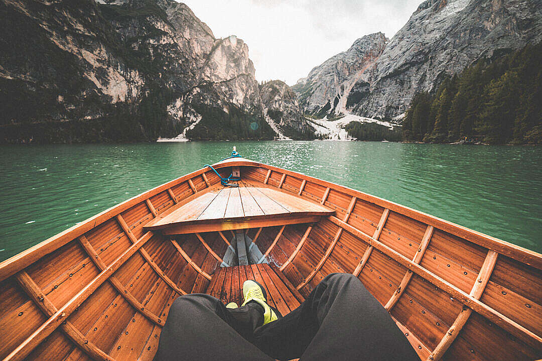 Download Boat Rowing on a Lake FREE Stock Photo