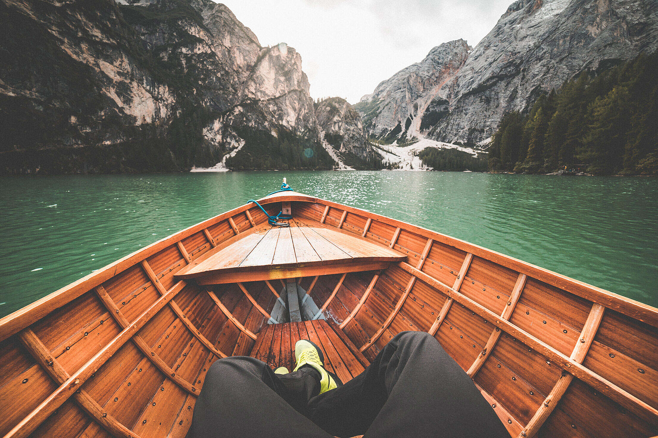 Boat Rowing on a Lake Free Stock Photo