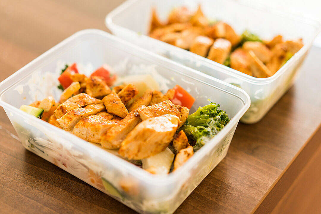 Download Box Diet Fitness Meal Lunch Grilled Chicken Steak FREE Stock Photo