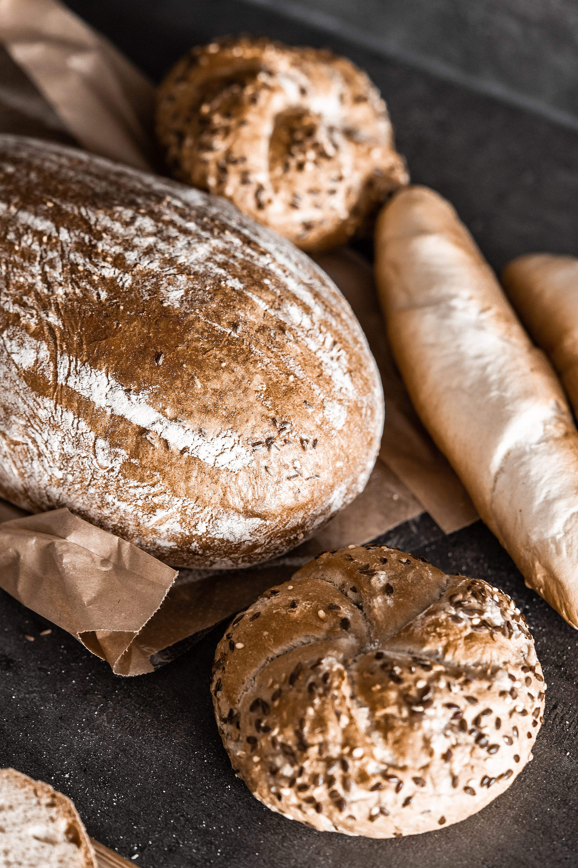 Bread and Other Baked Goods Free Stock Photo