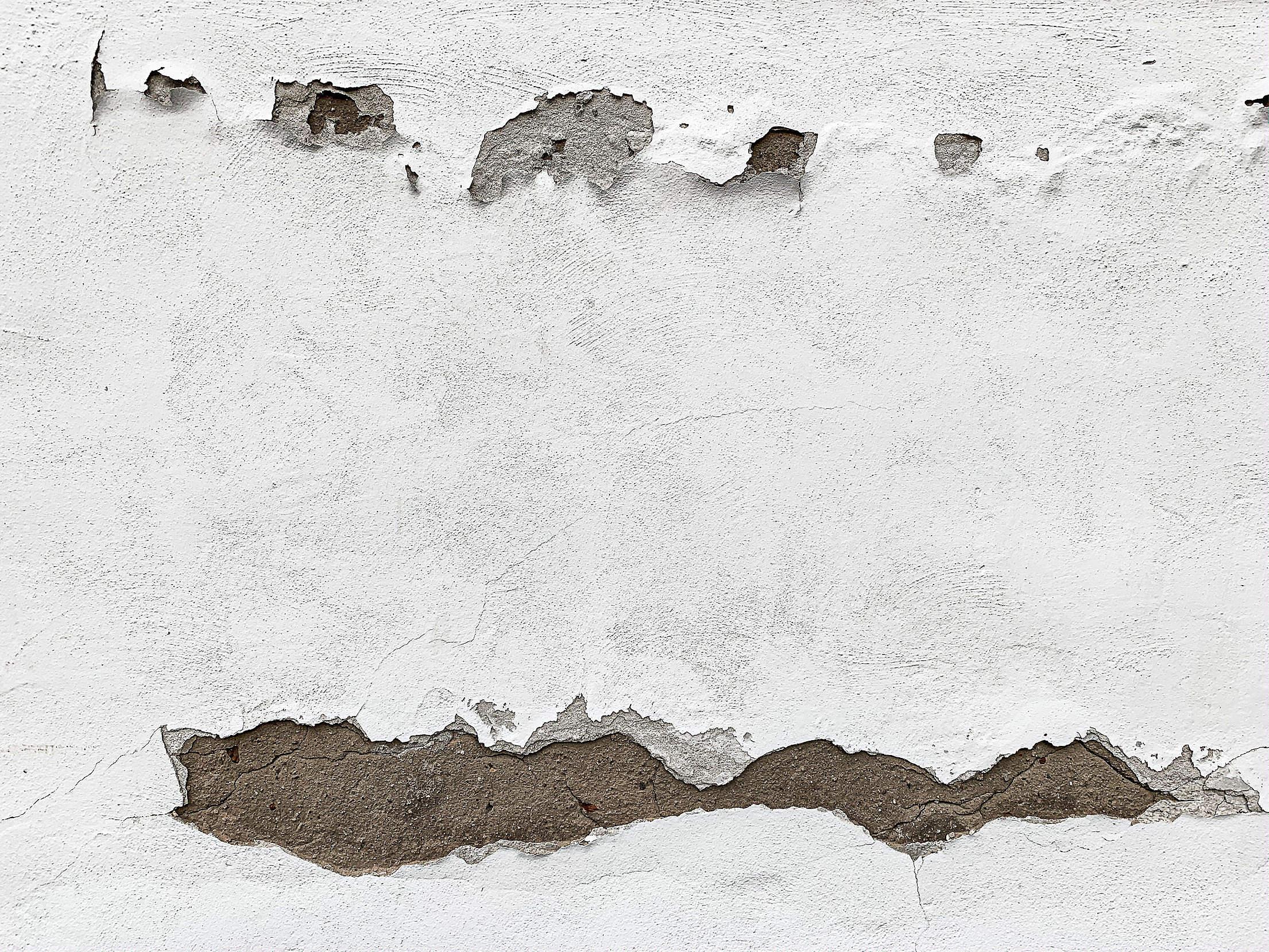 Broken White Wall Texture Free Stock Photo