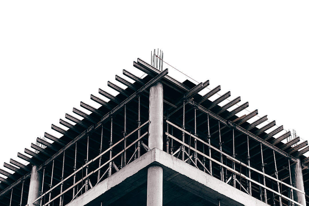 Download Building Construction, Black and White FREE Stock Photo