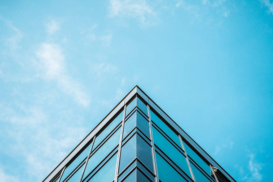 Download Business Skyscraper Office Building and Blue Sky FREE Stock Photo