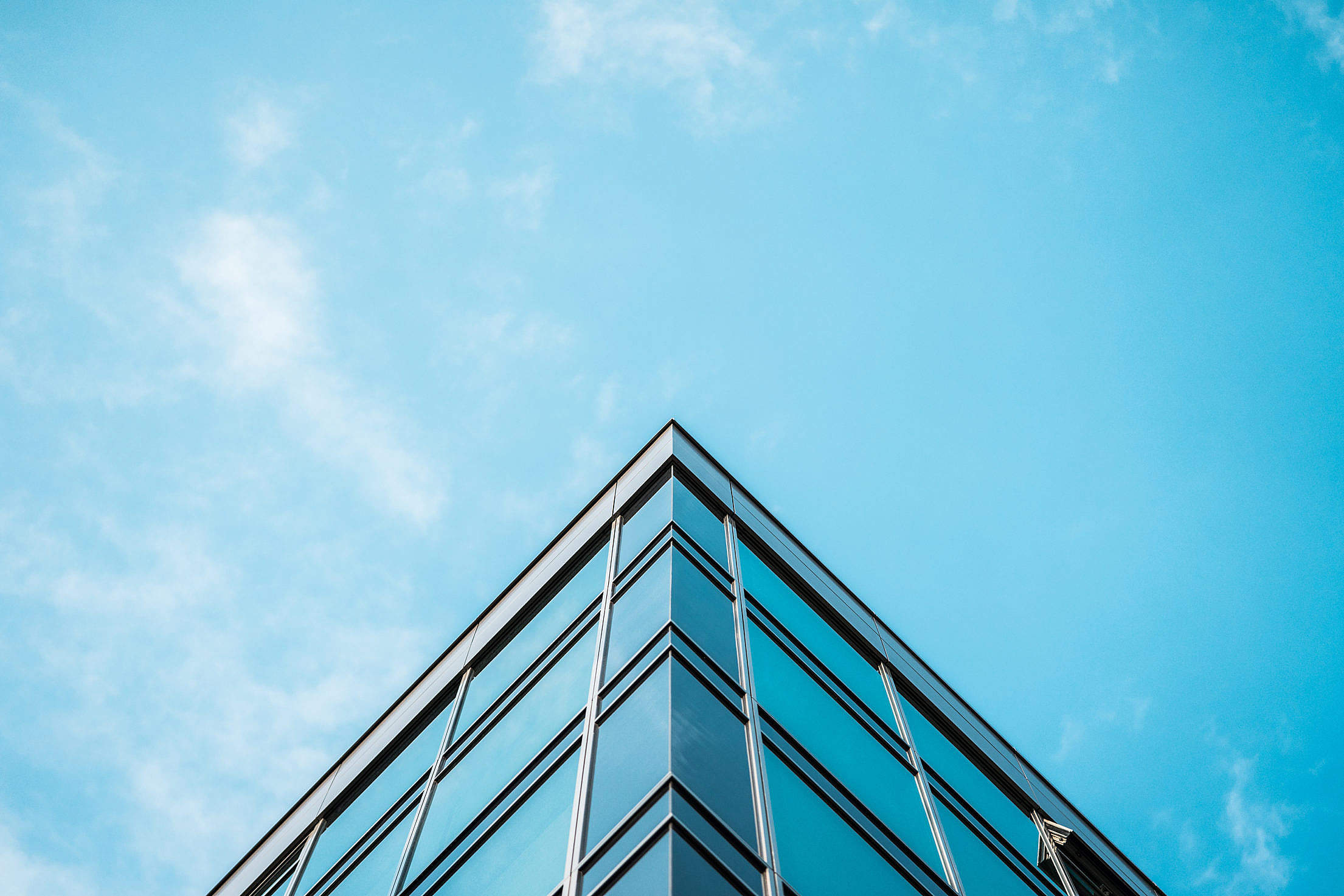 Business Skyscraper Office Building and Blue Sky Free Stock Photo