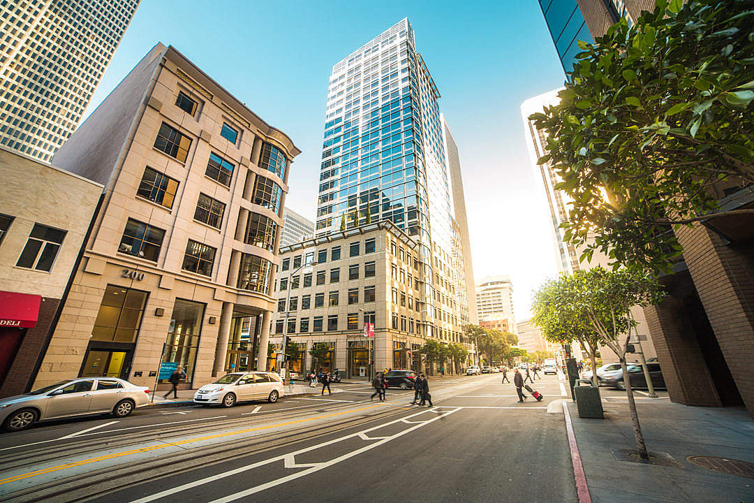 Download Busy Street in the Center of San Francisco FREE Stock Photo