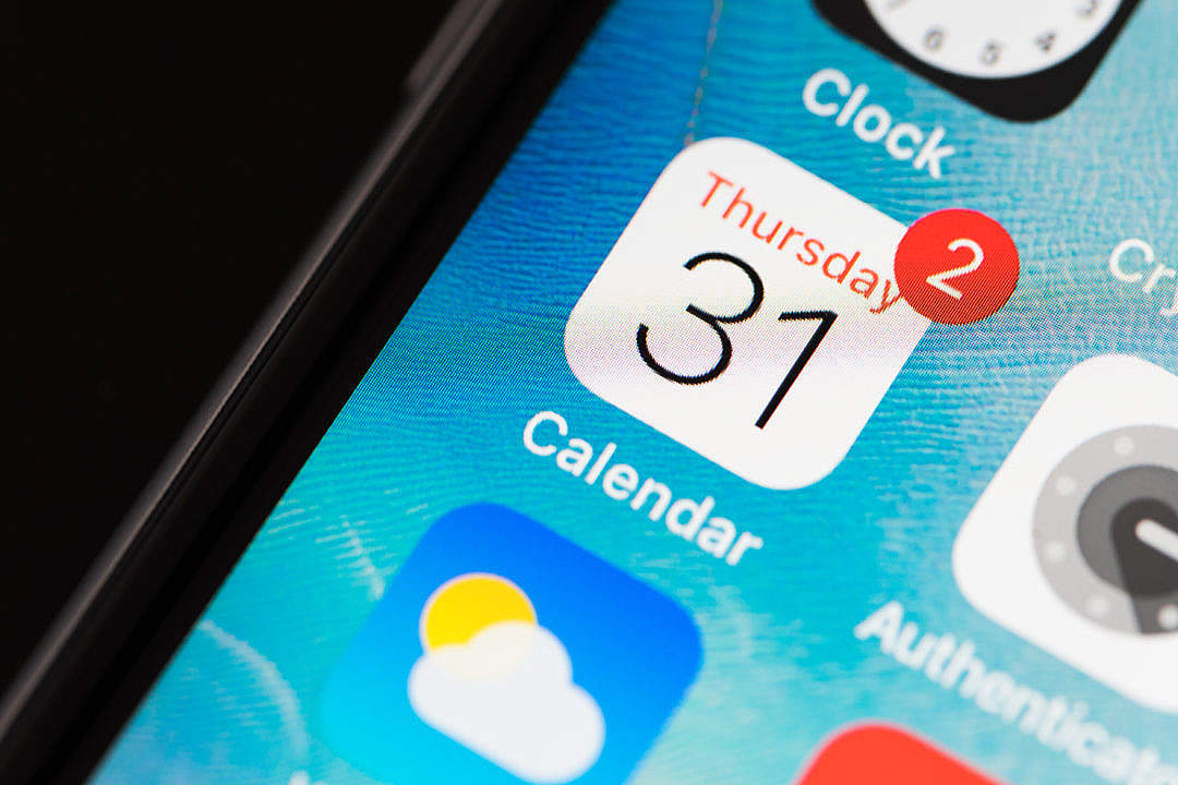 Download Calendar App Icon for Time Management FREE Stock Photo