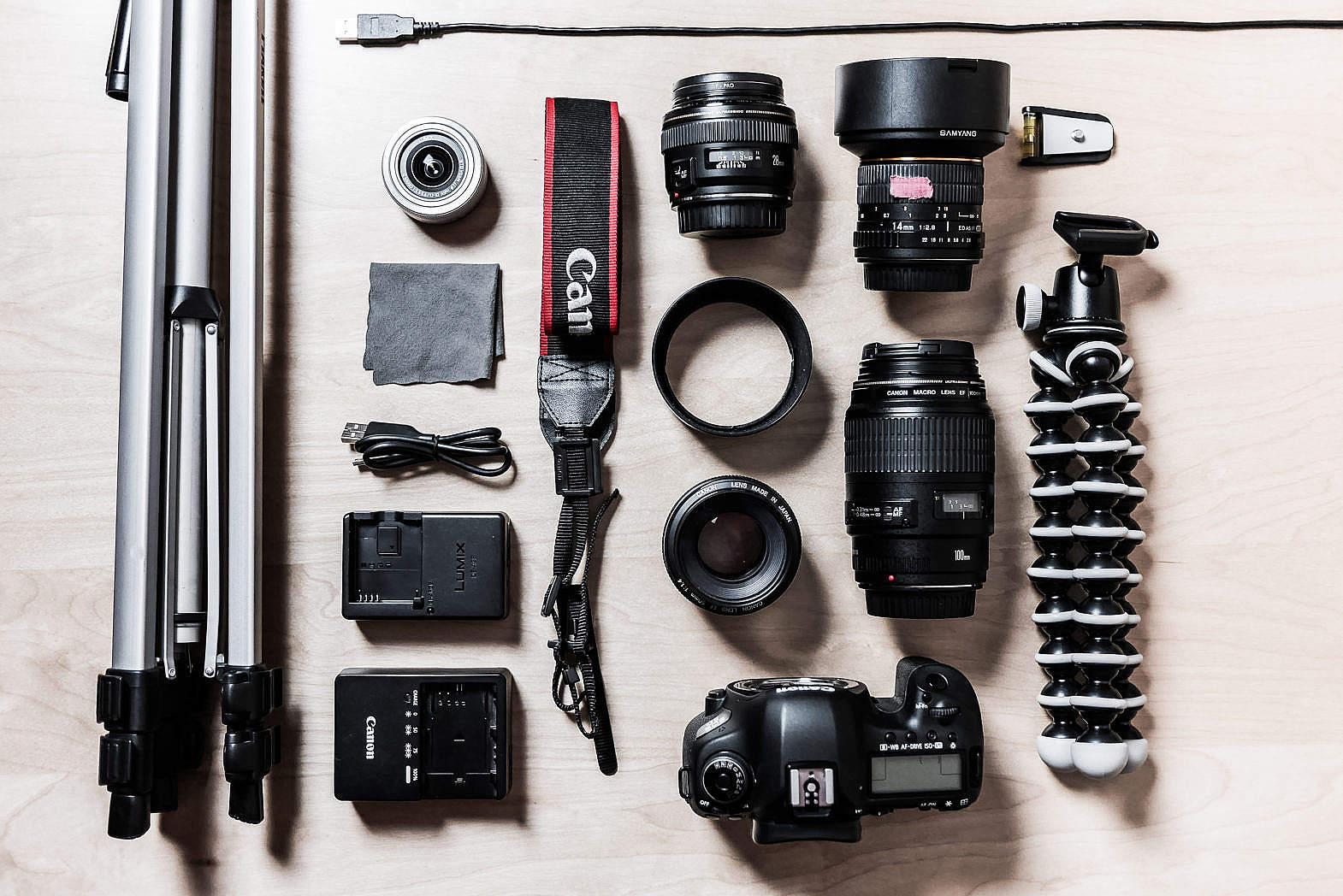набор для репортажного фотографа уже