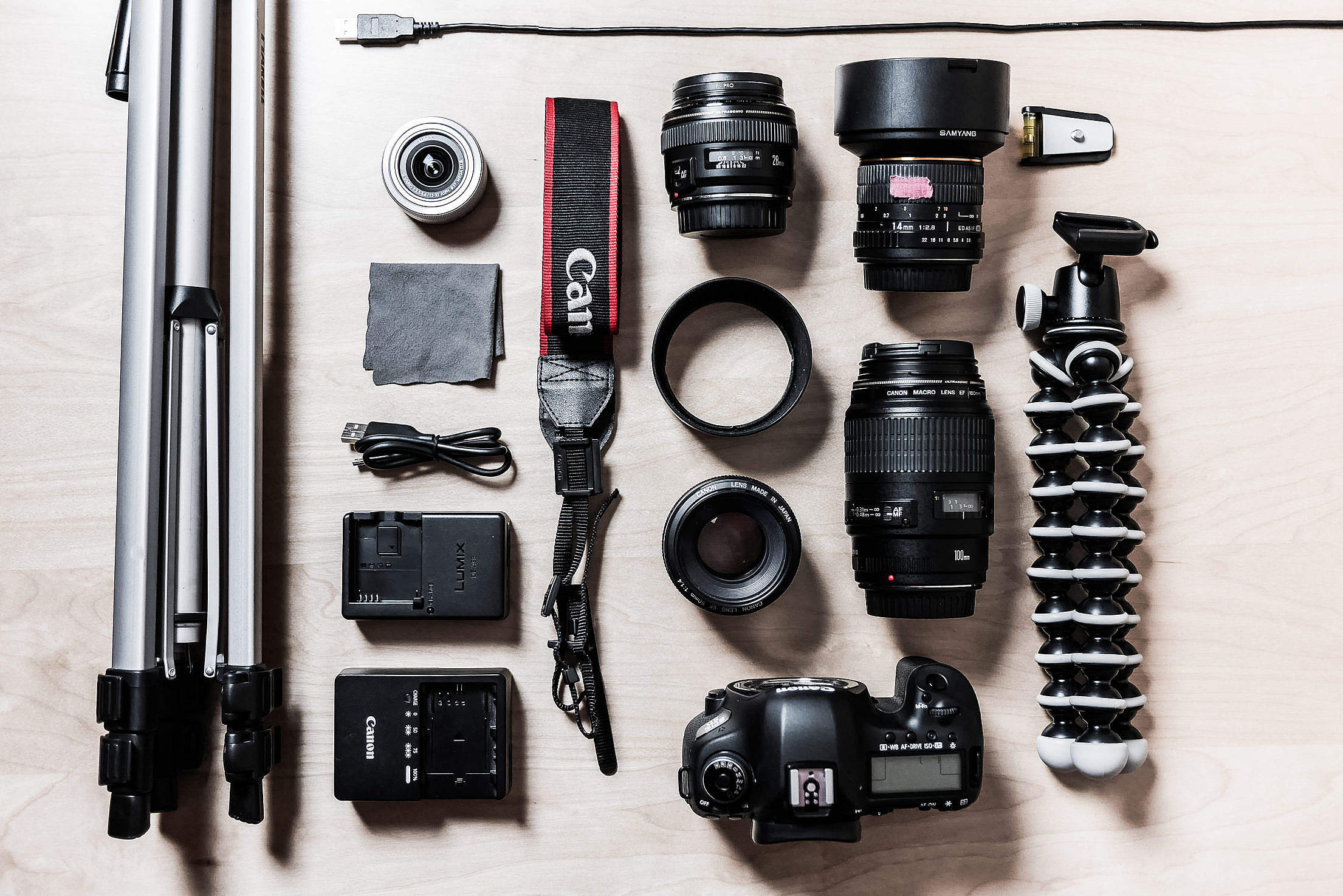 Camera Gear Photographer Equipment Free Stock Photo