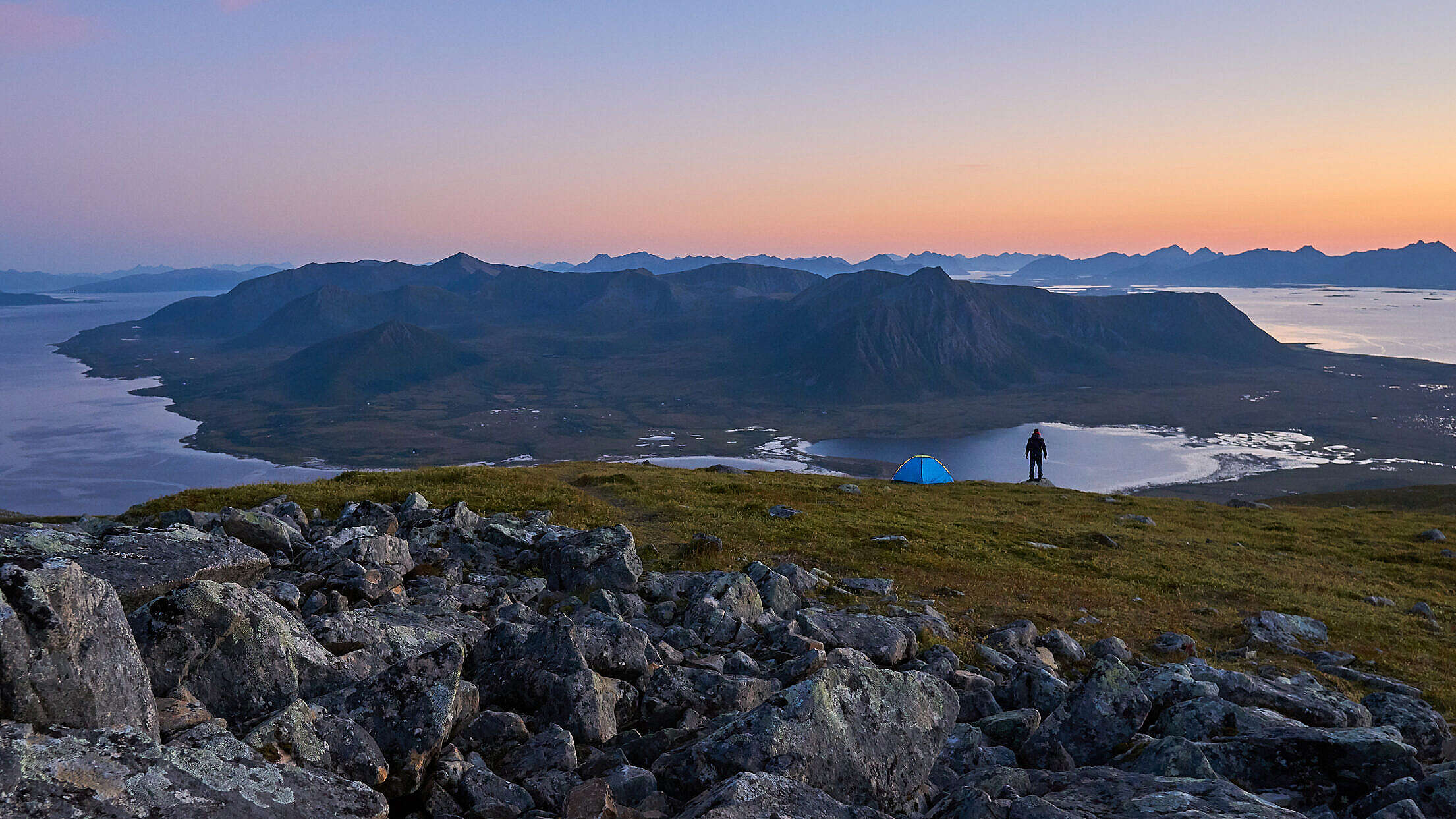 Camping in the Mountains of Northern Norway Free Stock Photo