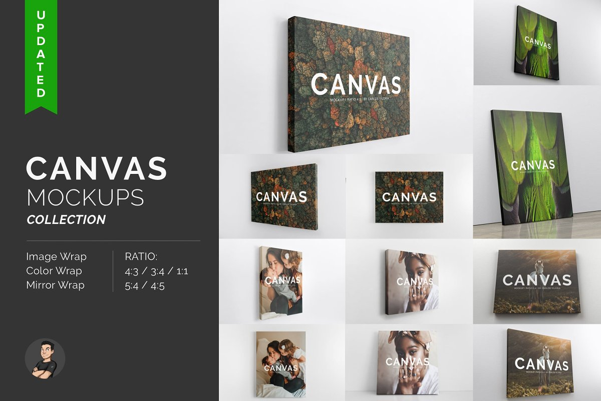 Perfect Realistic Canvas Mockups