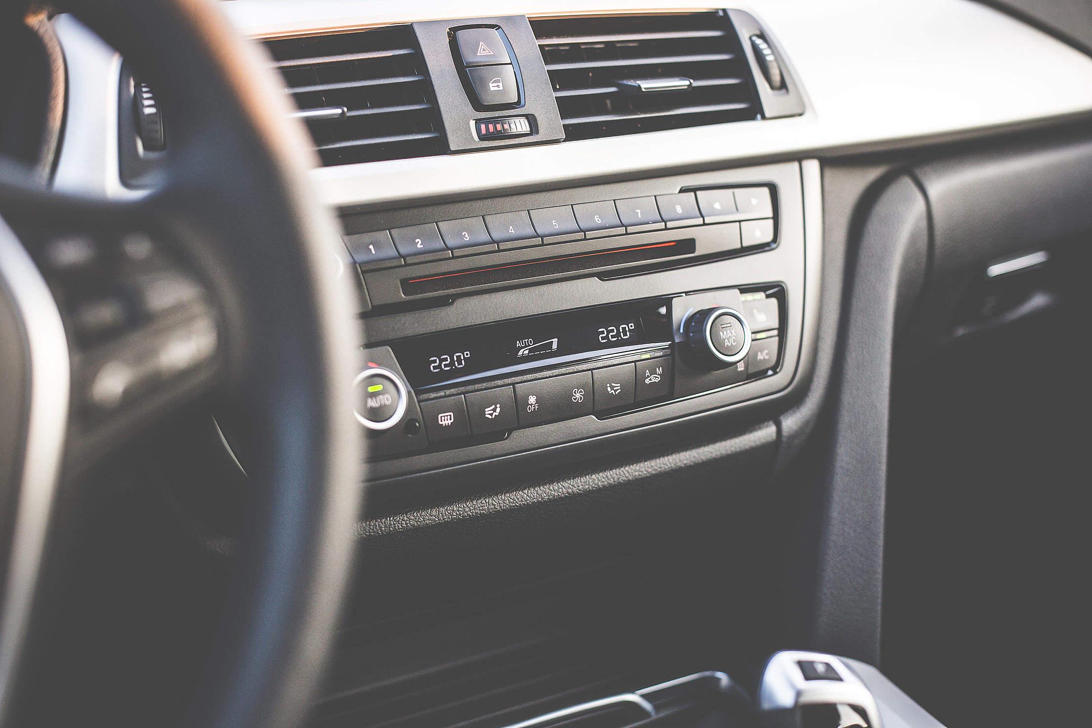 Car Interior Dashboard Free Stock Photo