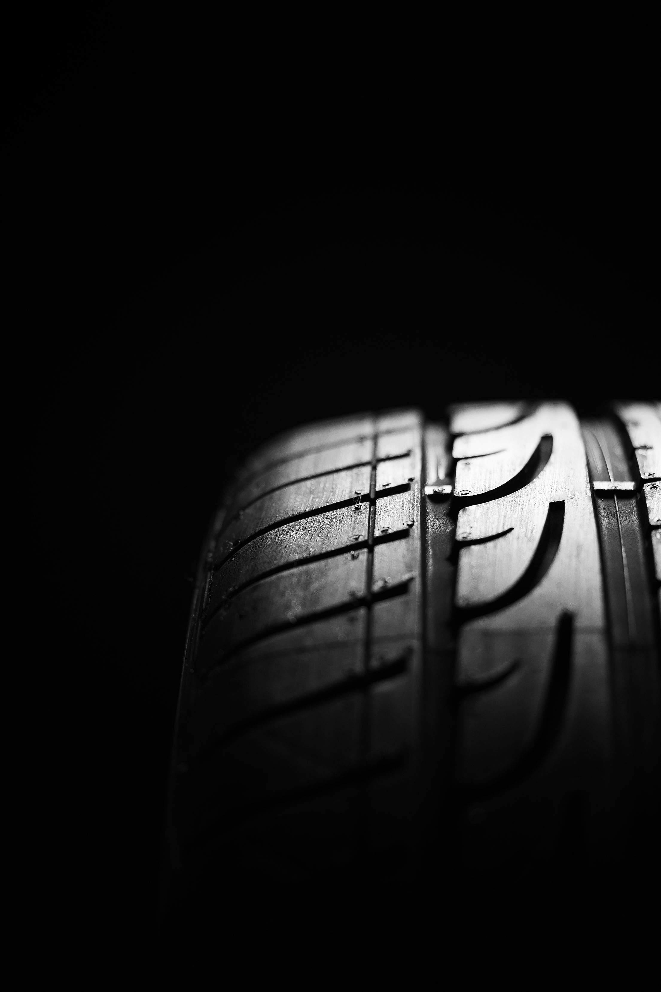 Car Tire Tread Pattern Close Up Vertical Free Stock Photo