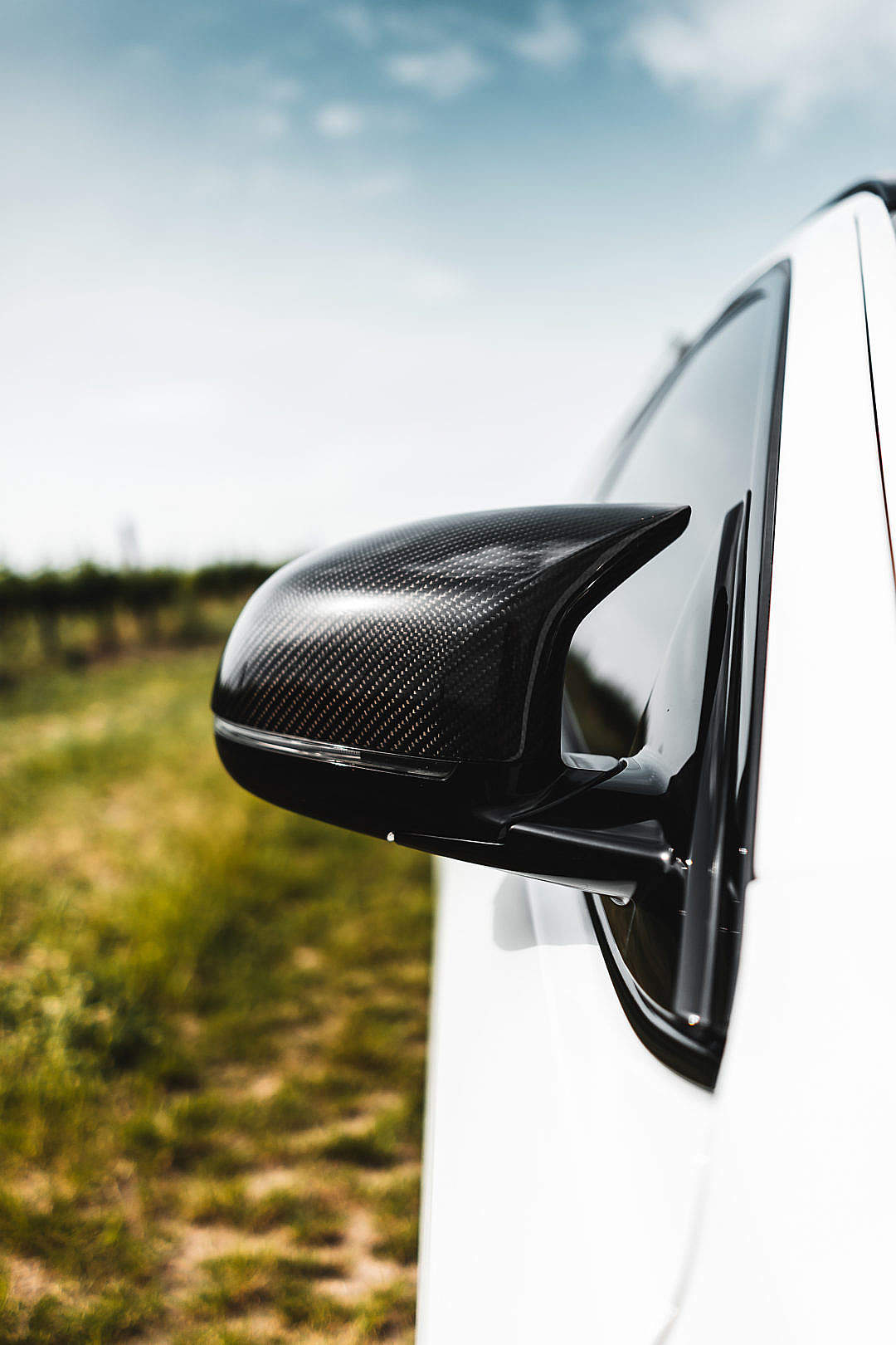 Download Carbon Fiber Side Mirror FREE Stock Photo