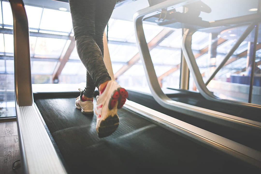 Download Cardio Running on a Treadmill FREE Stock Photo