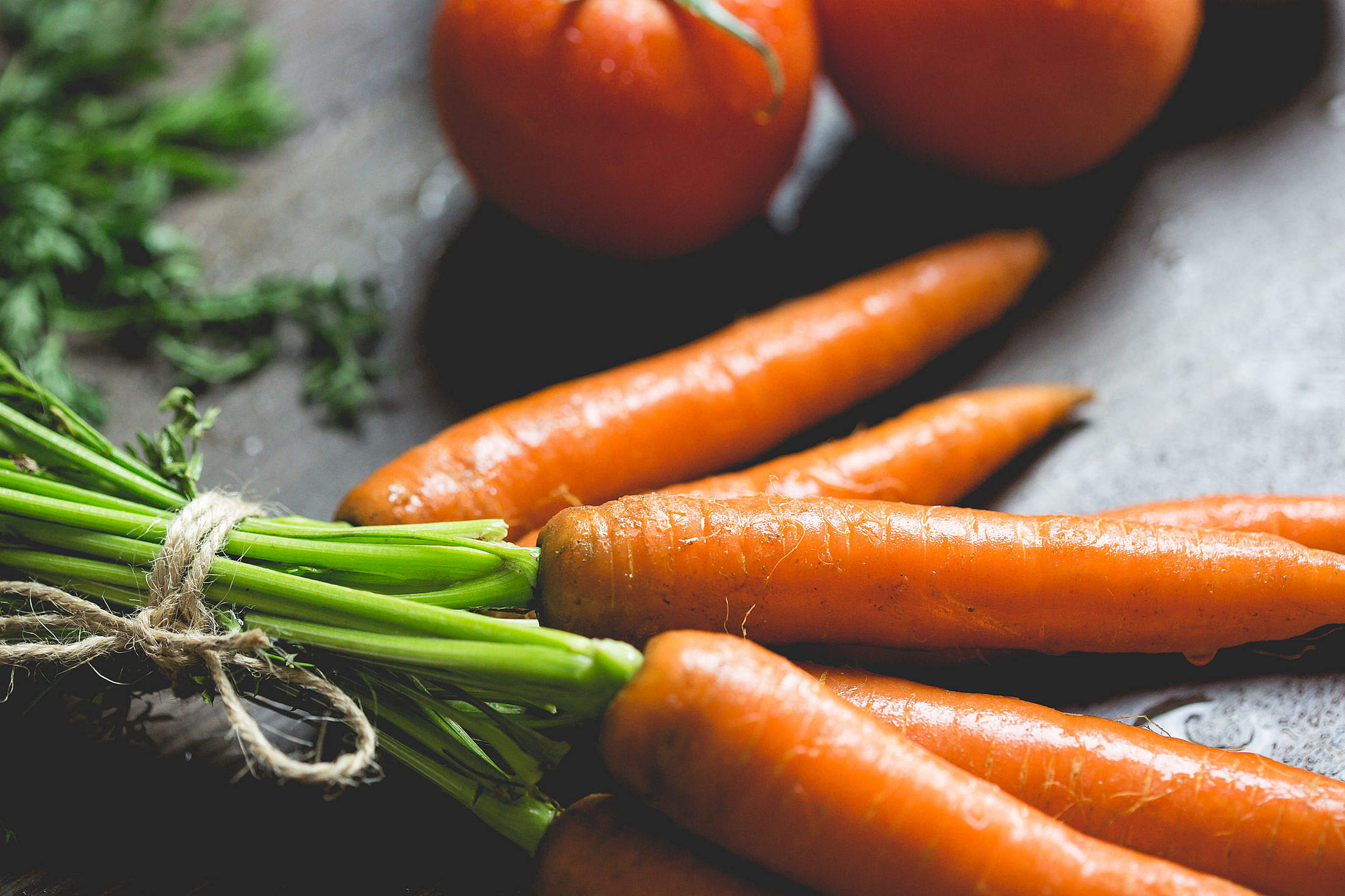 Carrots Close Up Free Stock Photo