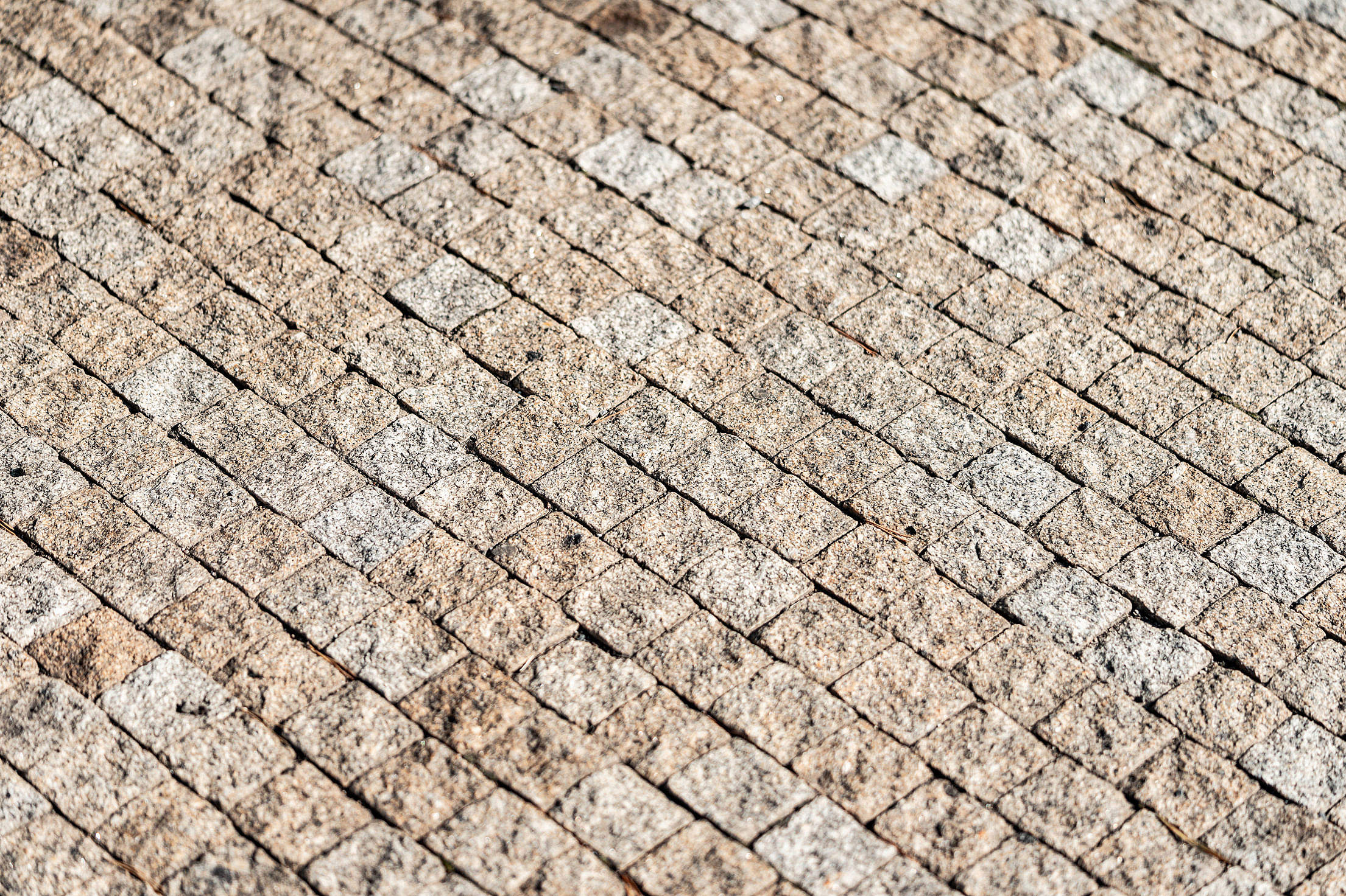 Castle Pavement Made of Stone Cubes Free Stock Photo