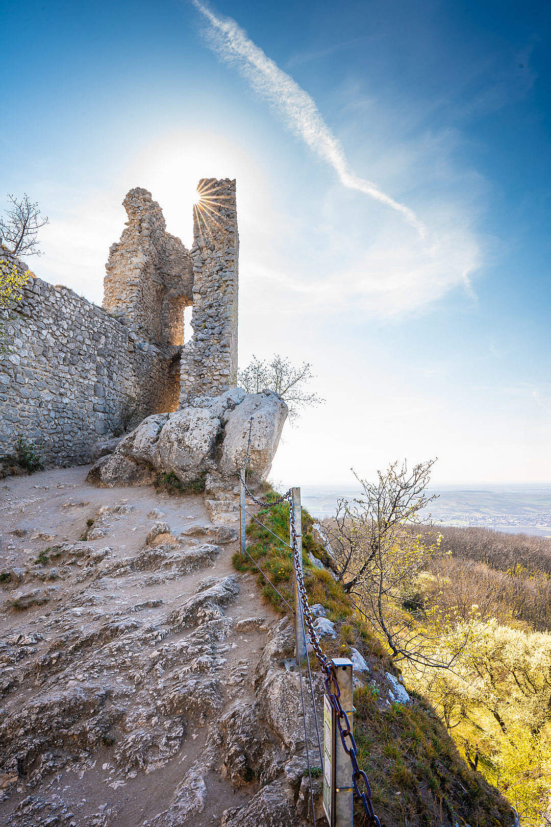 Download Castle Ruins in Klentnice, South Moravia FREE Stock Photo