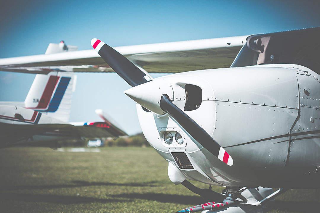 Download Cessna Airplane Propeller Closeup FREE Stock Photo