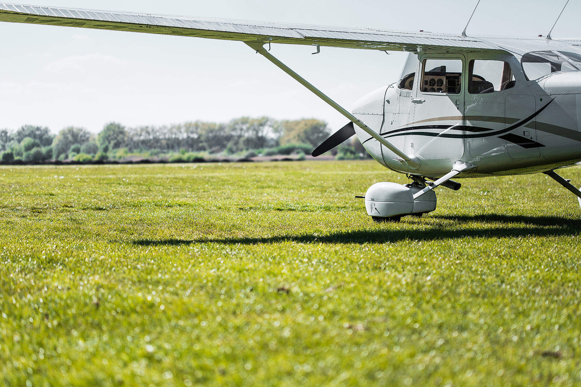 Download Cessna Plane is Ready on The Airport Free Stock Photo