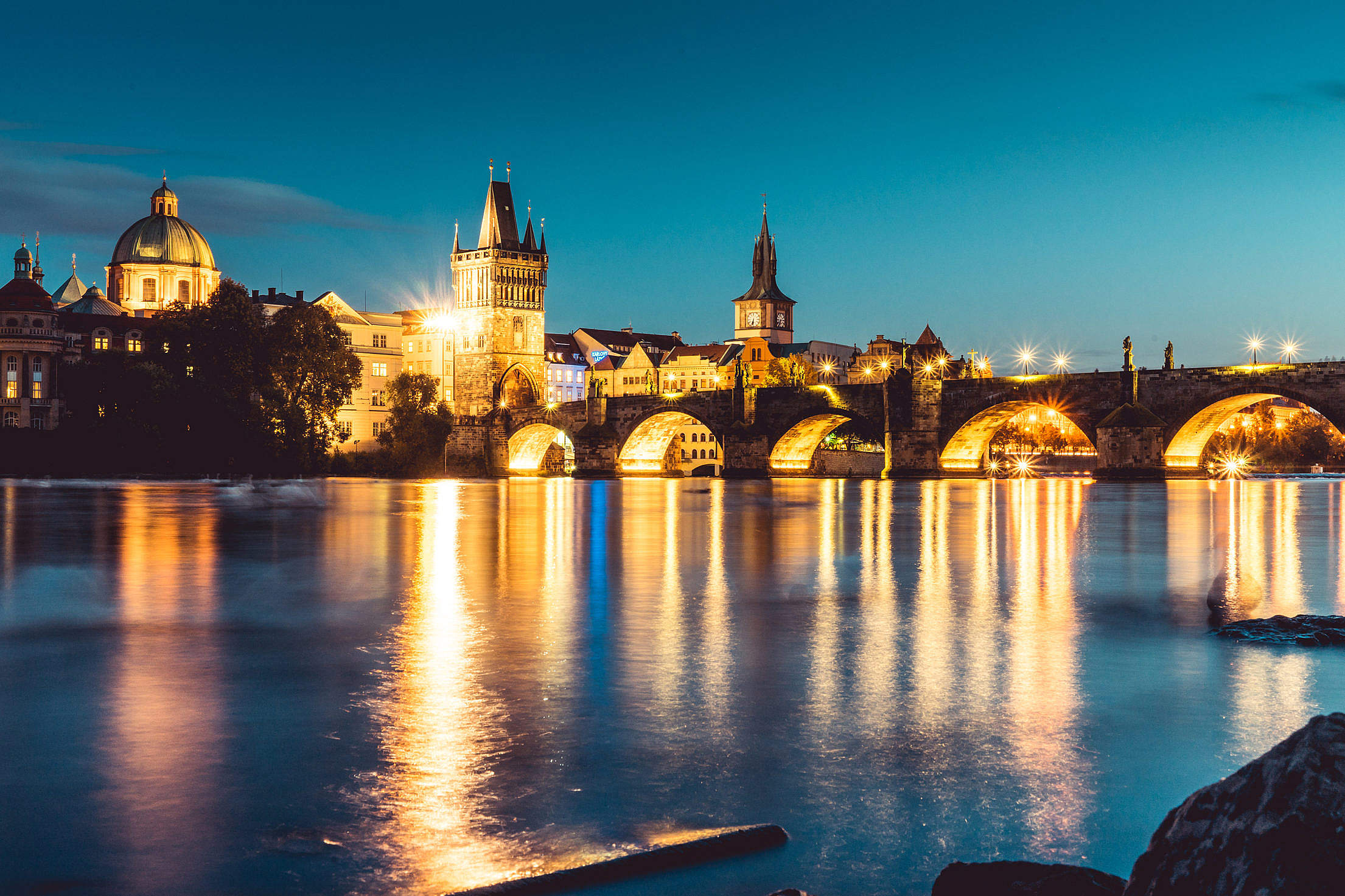 Charles Bridge in Prague, Czechia Free Stock Photo