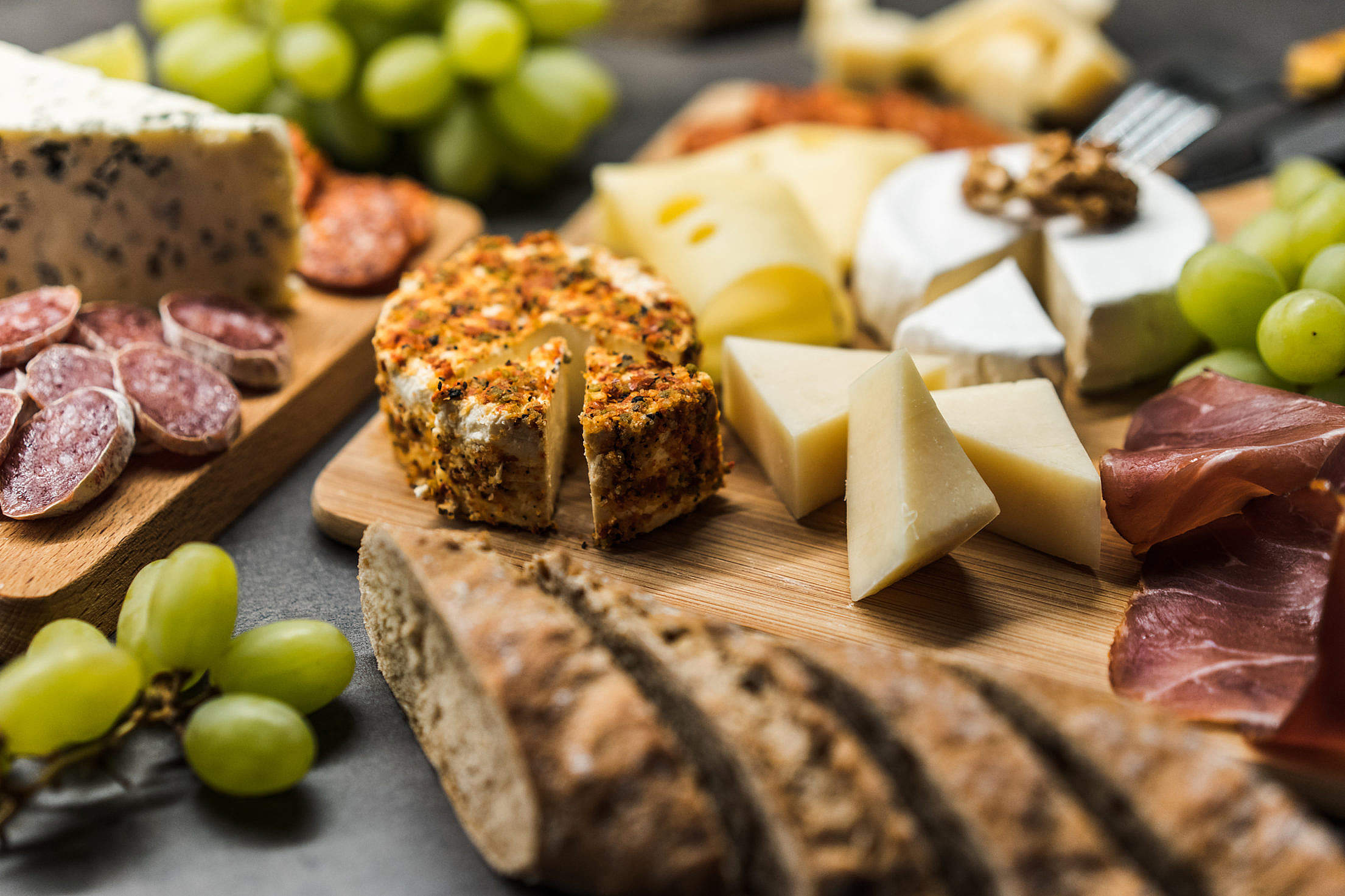 Cheese Plate Close Up Free Stock Photo