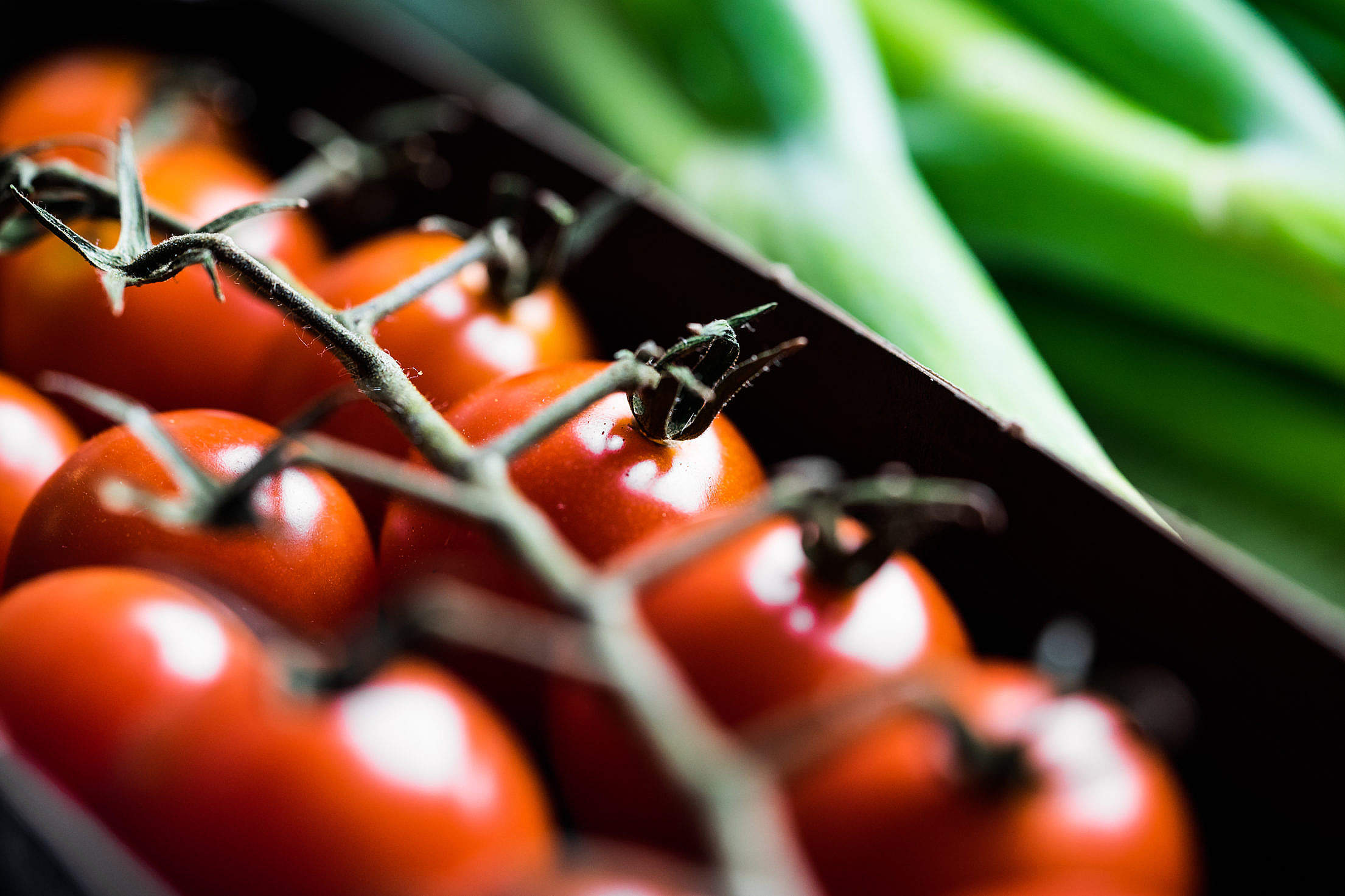 Download Cherry Tomatoes and Pizza Free Stock Photo