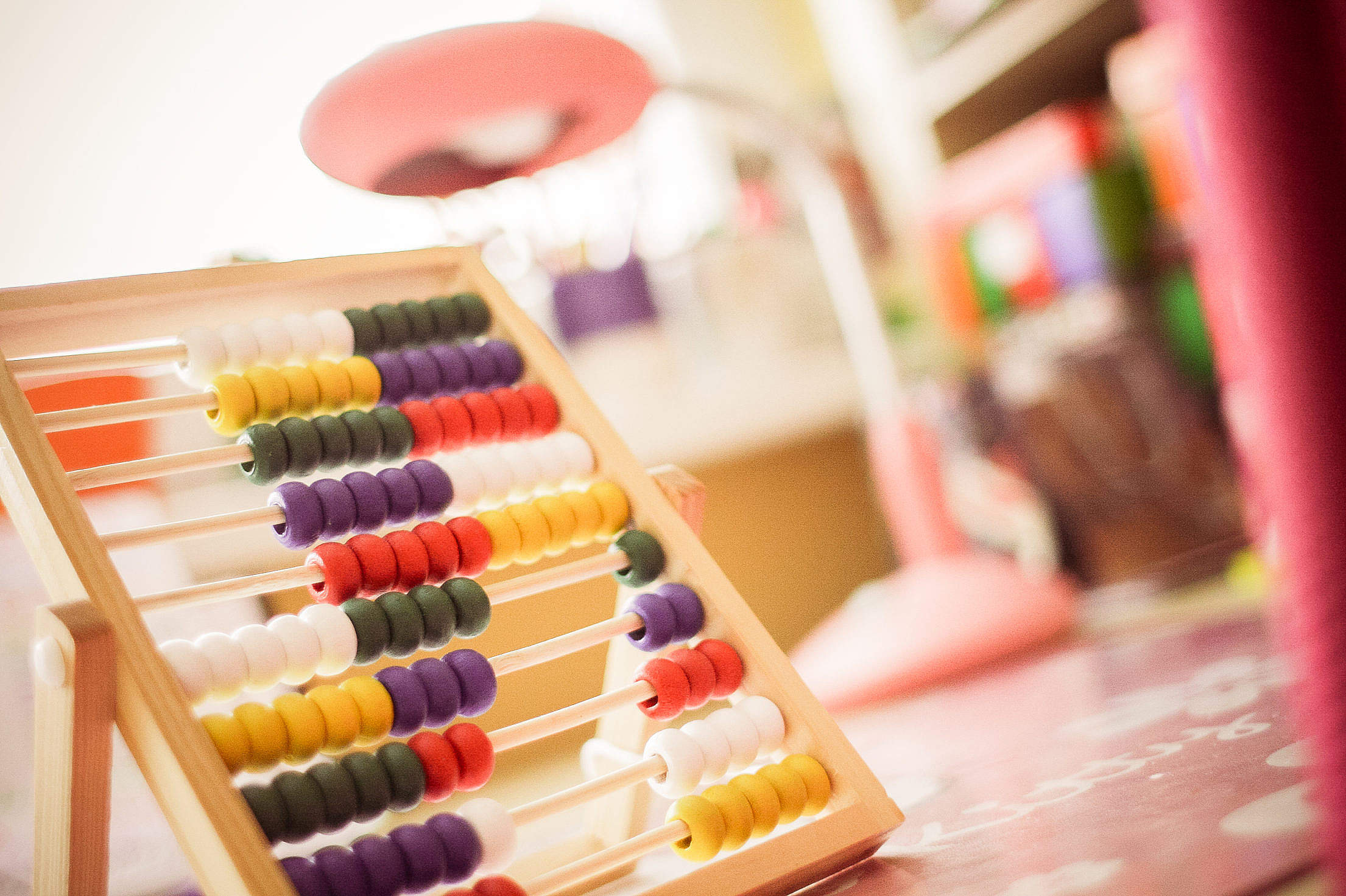 Children's Wooden Abacus Free Stock Photo