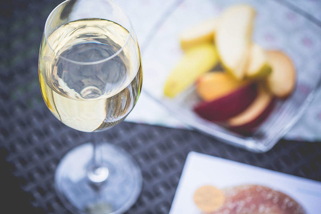 Download Chill-out with Glass of Wine FREE Stock Photo