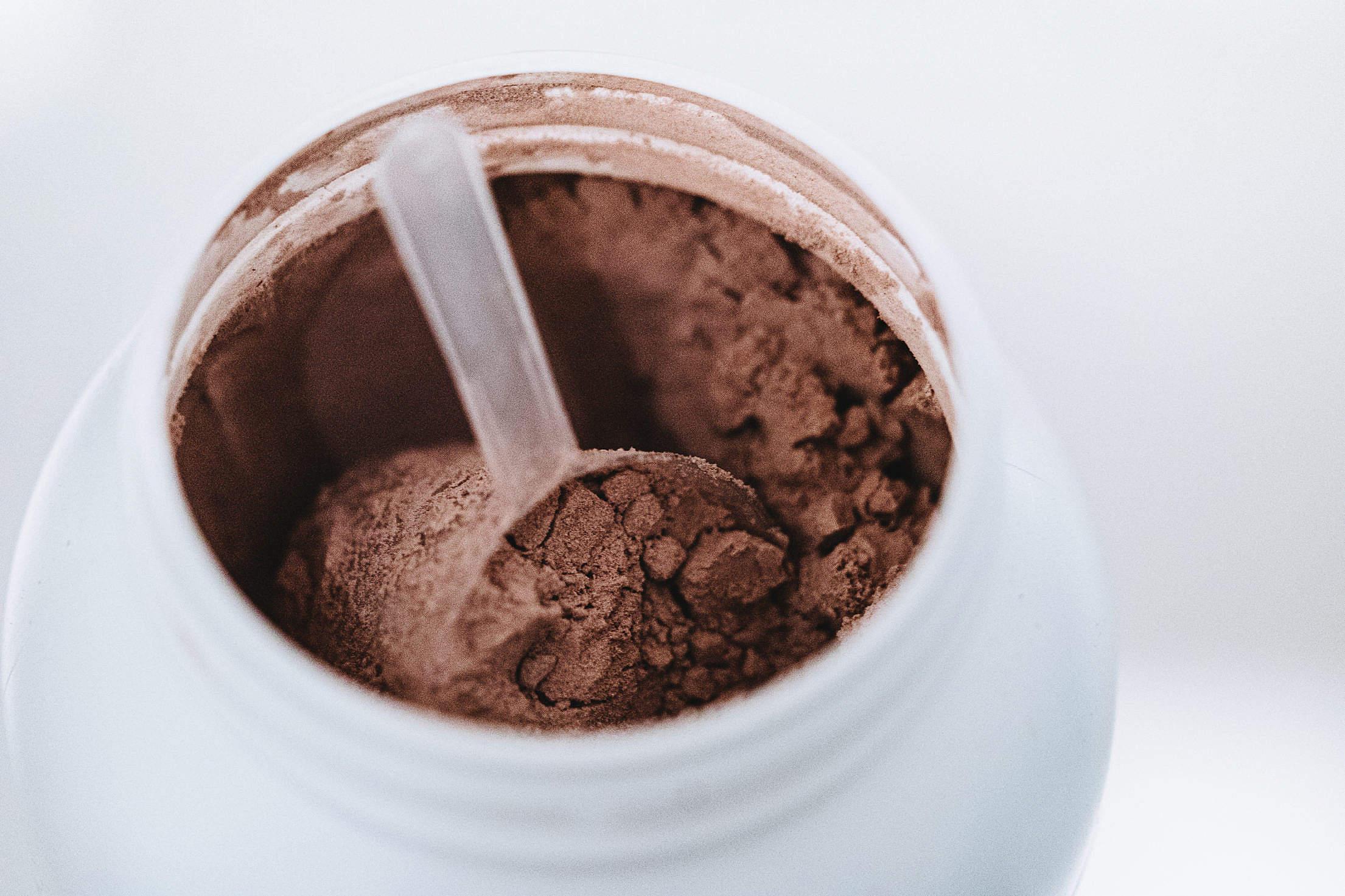 Chocolate Protein Powder Free Stock Photo