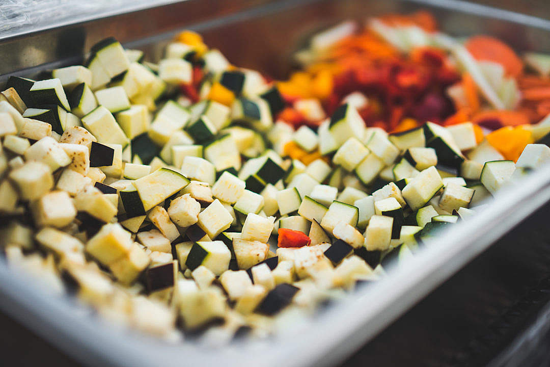 Download Chopped Vegetable FREE Stock Photo