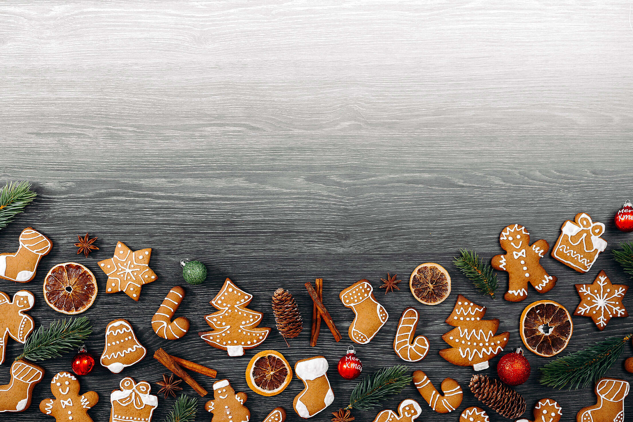 Christmas Background for Text Free Stock Photo