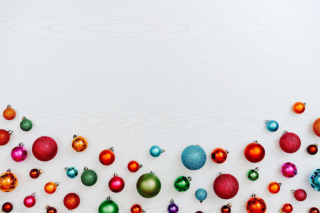 Download Christmas Balls Background FREE Stock Photo