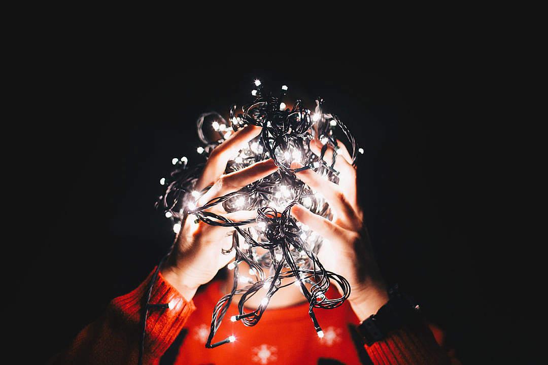 Download Christmas Chaos Lights FREE Stock Photo