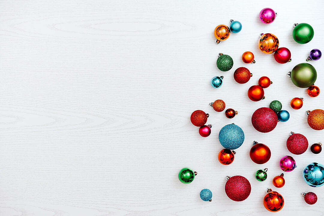 Download Christmas Decorations Background for Text FREE Stock Photo