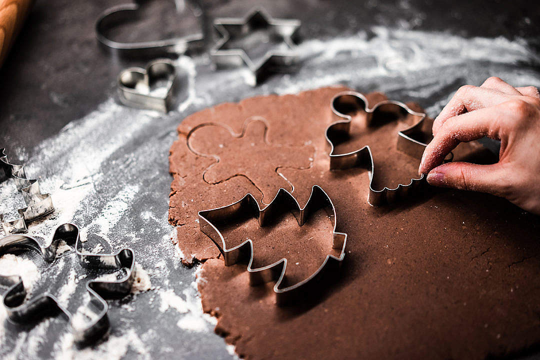 Download Christmas Gingerbread Baking Tools FREE Stock Photo