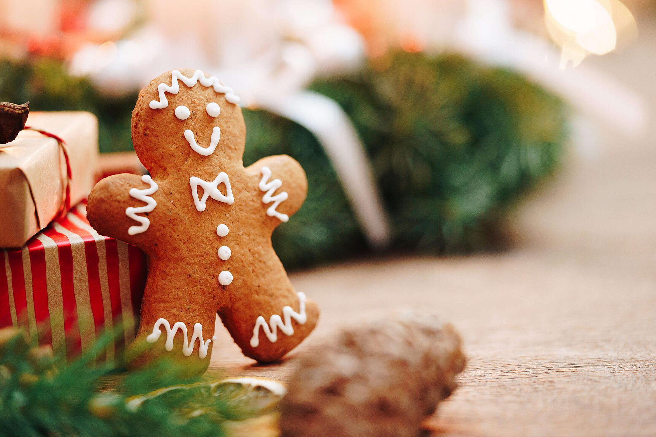 Christmas Gingerbread Man Free Stock Photo